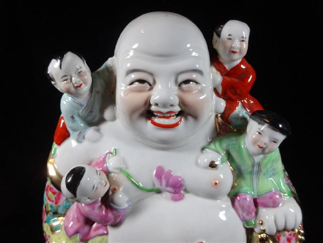 CHINESE PORCELAIN BUDDHA SCULPTURE, VERY GOOD - 3