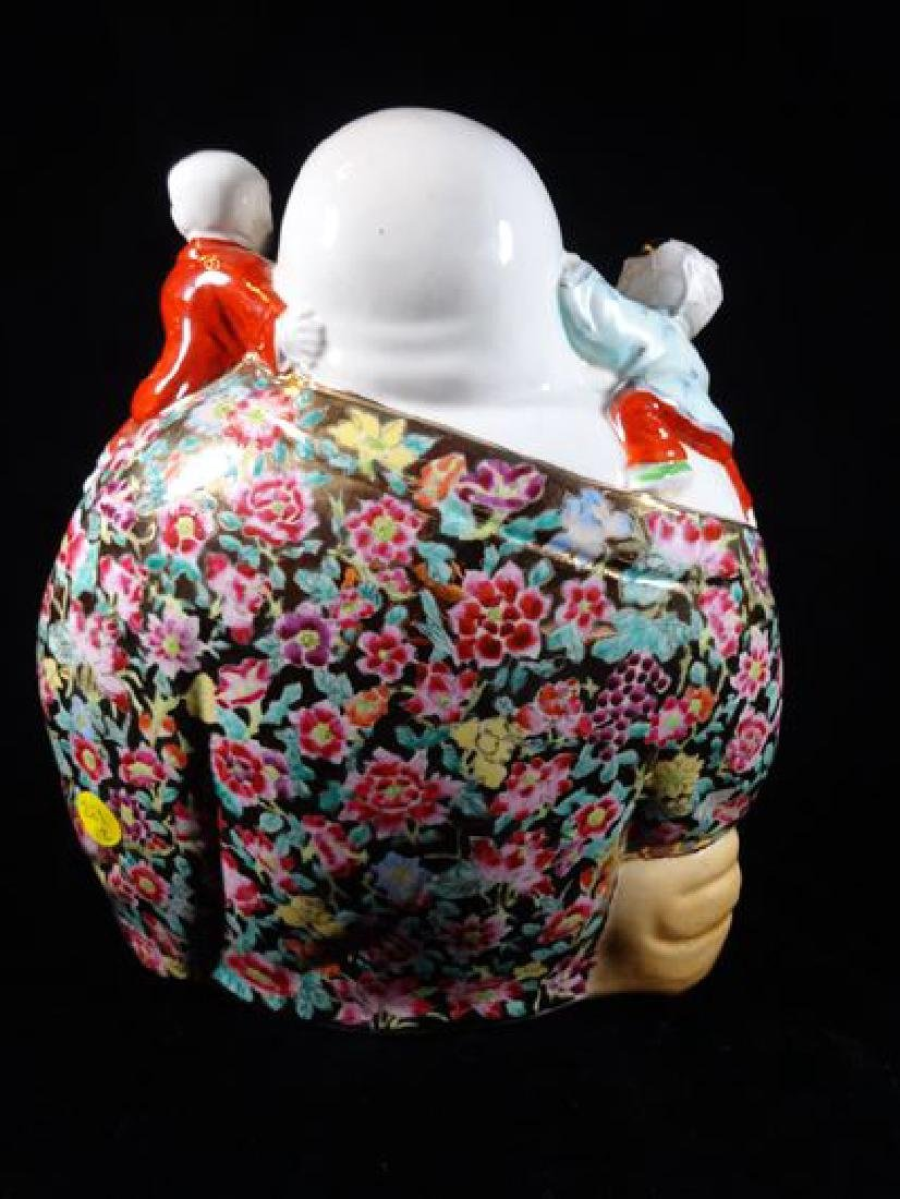 CHINESE PORCELAIN BUDDHA SCULPTURE, VERY GOOD - 4
