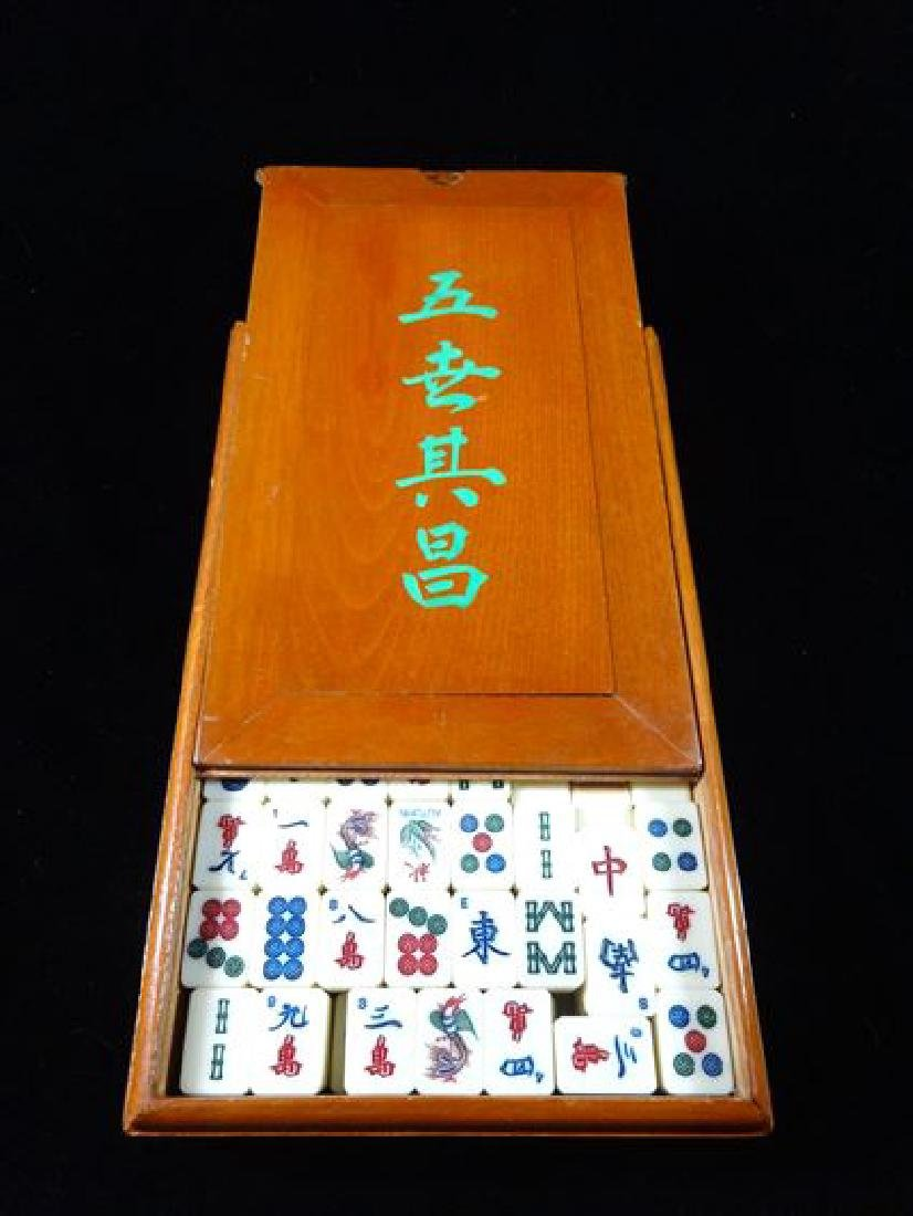 JAPANESE TILE GAME IN BOX, VERY GOOD VINTAGE CONDITION,