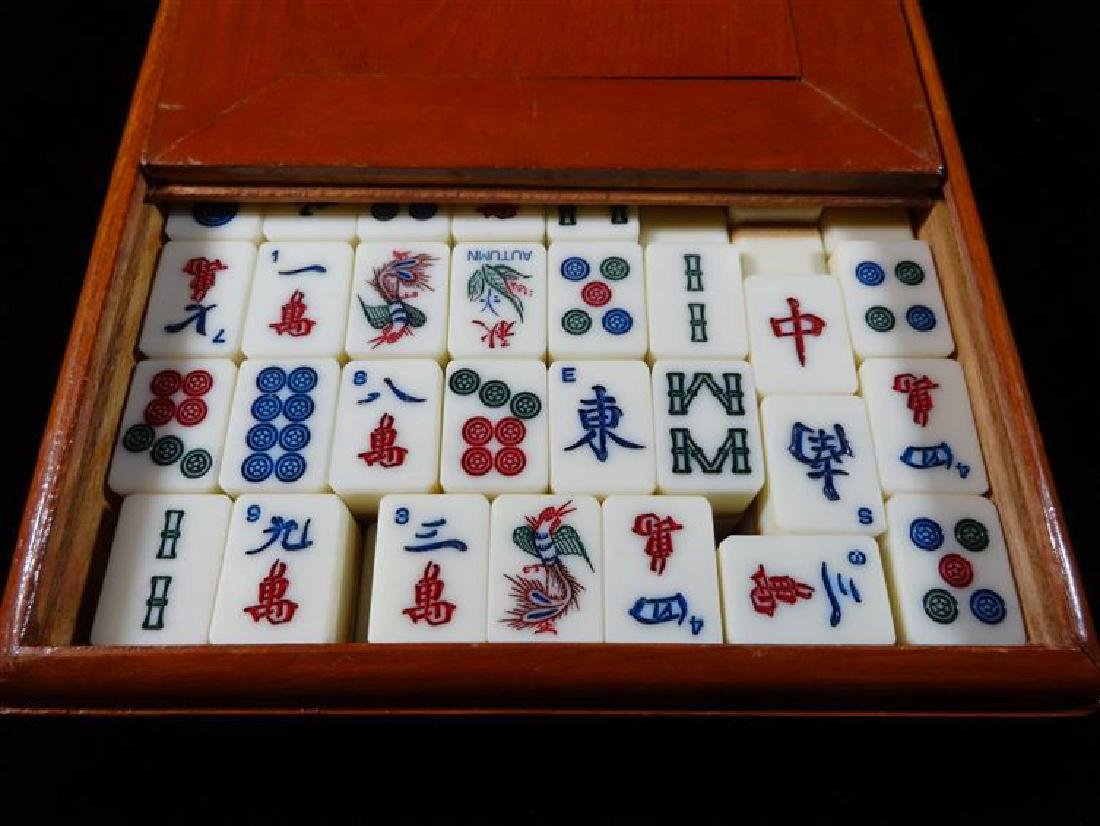 JAPANESE TILE GAME IN BOX, VERY GOOD VINTAGE CONDITION, - 2
