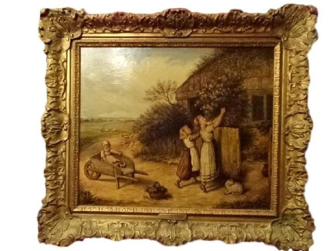 ANTIQUE J. COUGHLAN OIL ON CANVAS PAINTING, CIRCA LATE