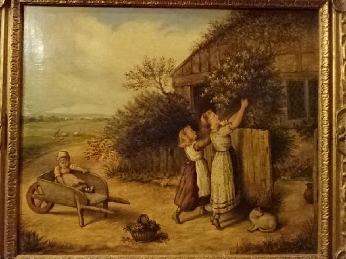 ANTIQUE J. COUGHLAN OIL ON CANVAS PAINTING, CIRCA LATE - 3