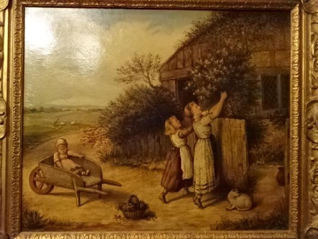 ANTIQUE J. COUGHLAN OIL ON CANVAS PAINTING, CIRCA LATE - 4