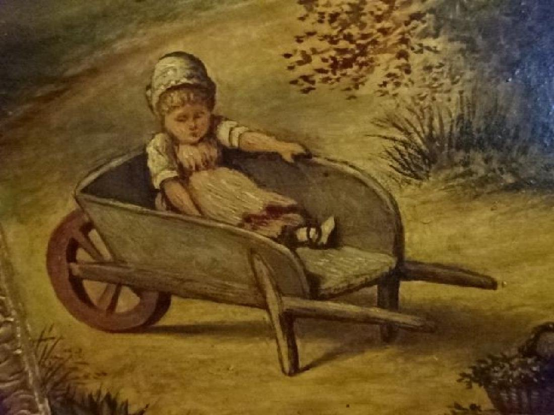 ANTIQUE J. COUGHLAN OIL ON CANVAS PAINTING, CIRCA LATE - 6