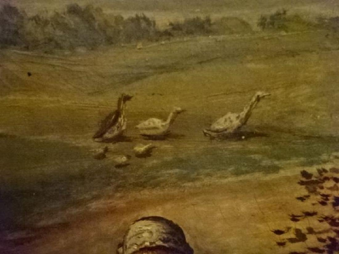 ANTIQUE J. COUGHLAN OIL ON CANVAS PAINTING, CIRCA LATE - 8