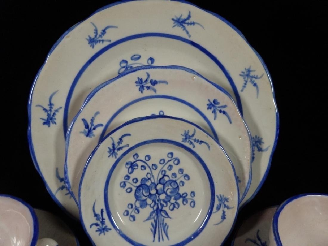 134 PC BLUE & WHITE MAJOLICA CHINA SERVICE, MADE IN - 7