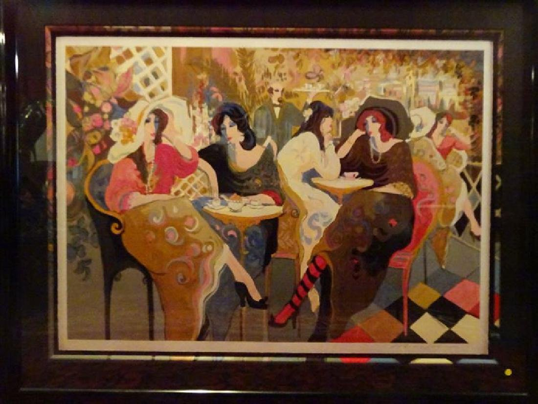 "HUGE ISAAC MAIMON SIGNED SERIGRAPH, ""LE PETIT BISTRO"","