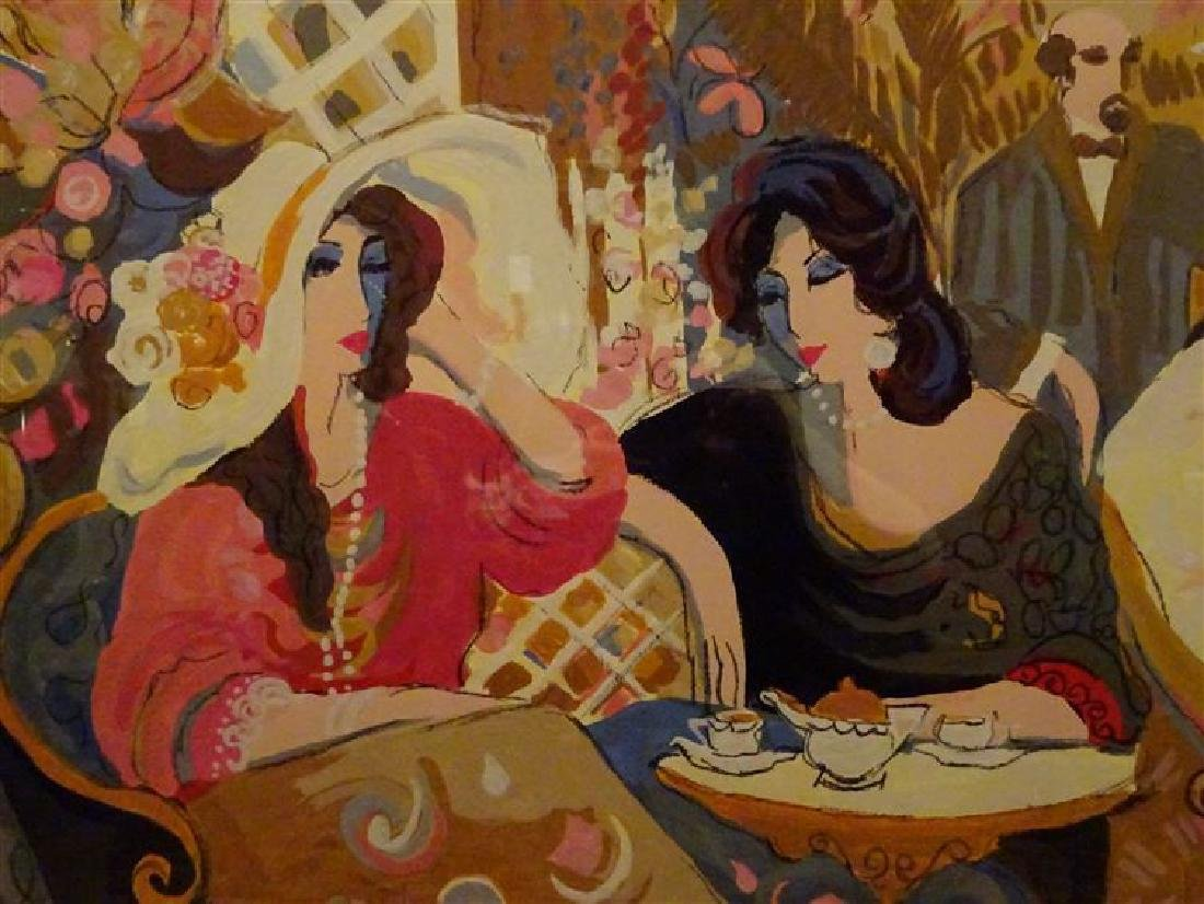 "HUGE ISAAC MAIMON SIGNED SERIGRAPH, ""LE PETIT BISTRO"", - 6"