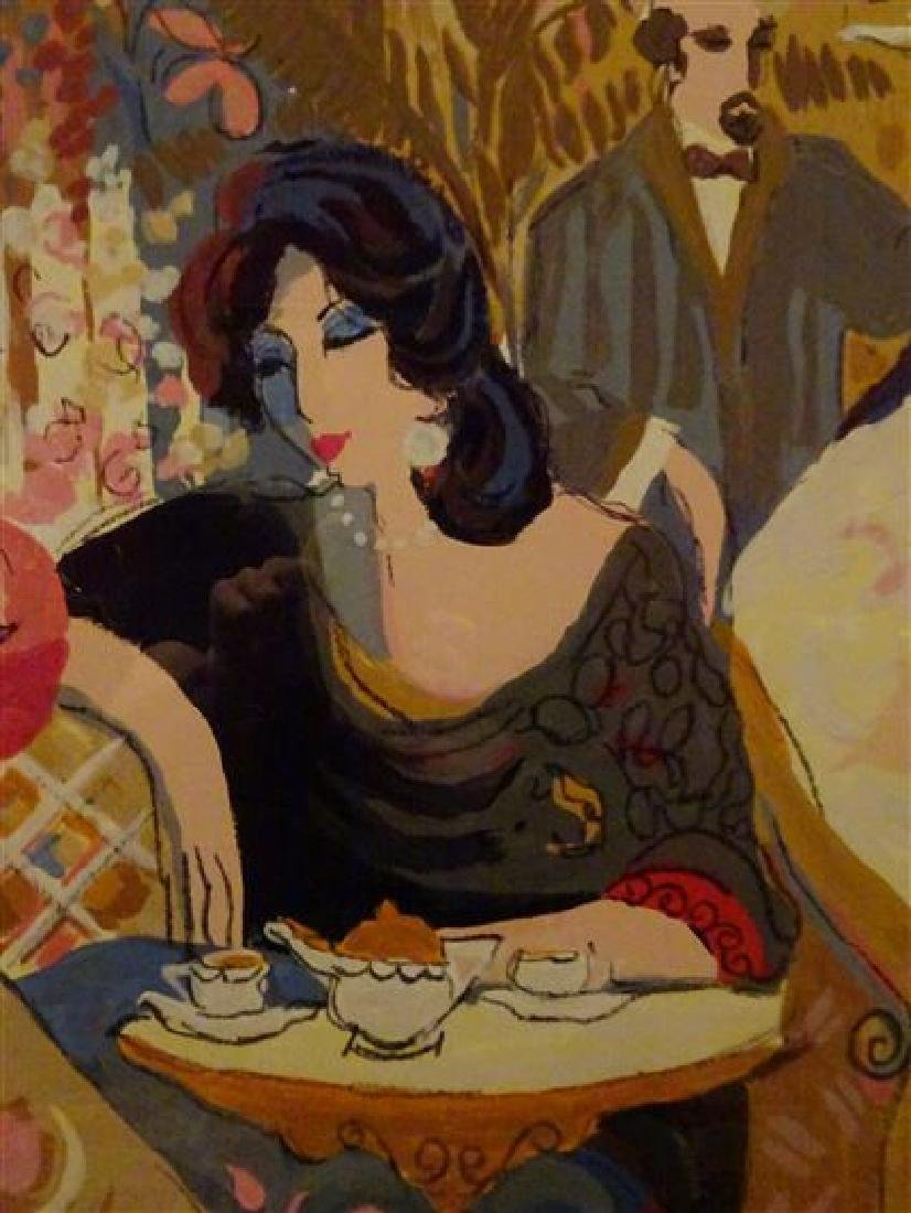"HUGE ISAAC MAIMON SIGNED SERIGRAPH, ""LE PETIT BISTRO"", - 7"