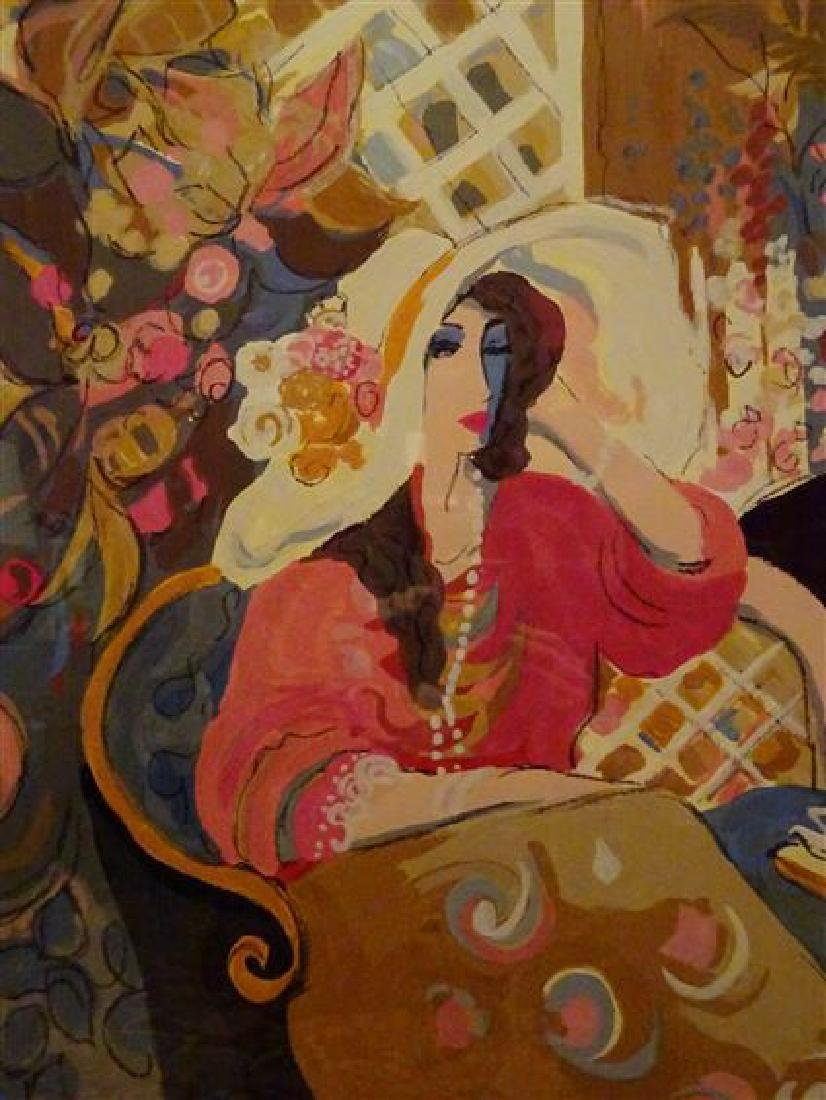 "HUGE ISAAC MAIMON SIGNED SERIGRAPH, ""LE PETIT BISTRO"", - 8"