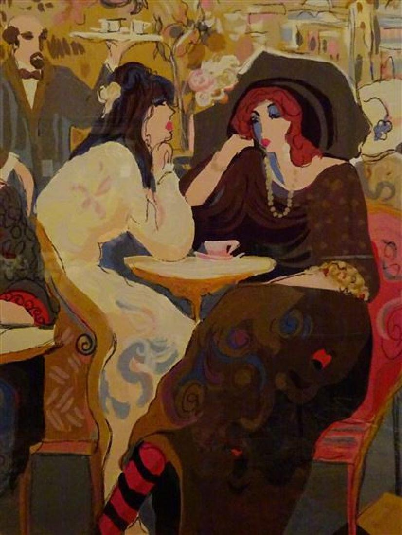 "HUGE ISAAC MAIMON SIGNED SERIGRAPH, ""LE PETIT BISTRO"", - 9"