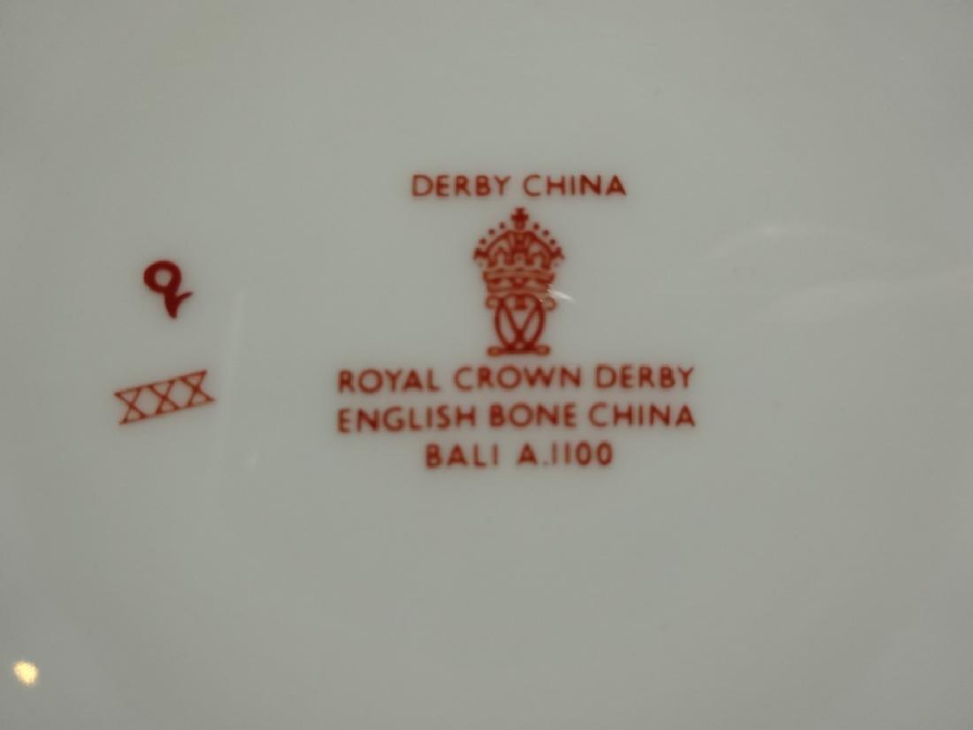 131 PC ROYAL CROWN DERBY ENGLISH BONE CHINA SERVICE, - 7
