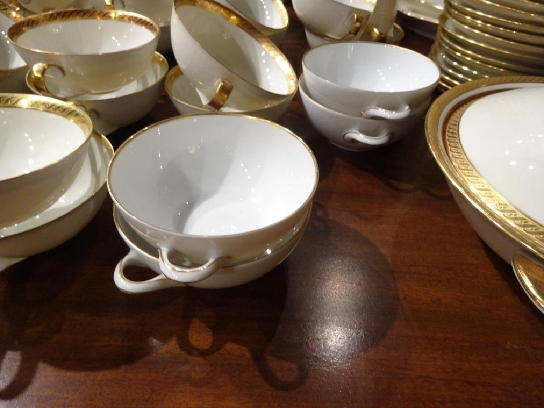 265 PC HUTSCHENREUTHER CHINA SERVICE, 02396 WHITE WITH - 10
