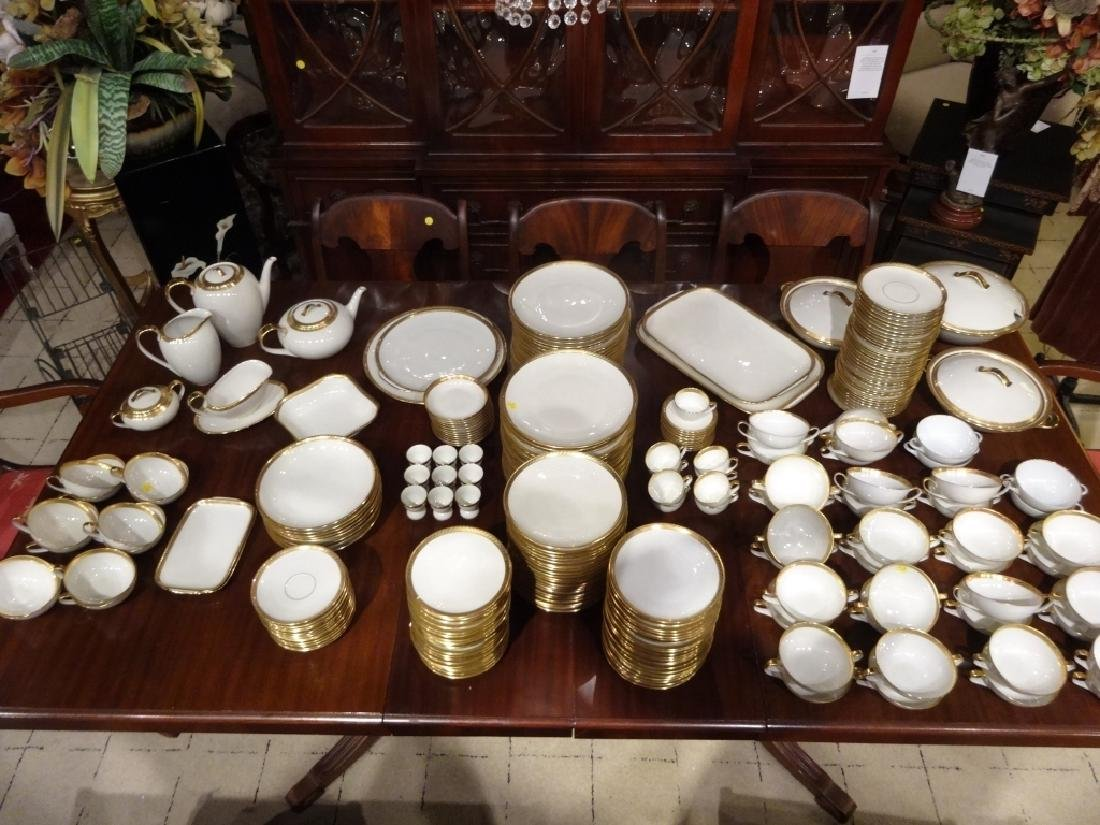 265 PC HUTSCHENREUTHER CHINA SERVICE, 02396 WHITE WITH - 7