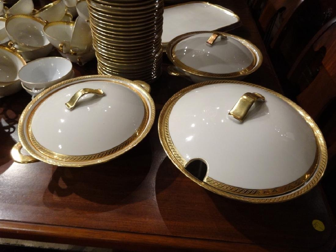 265 PC HUTSCHENREUTHER CHINA SERVICE, 02396 WHITE WITH - 9