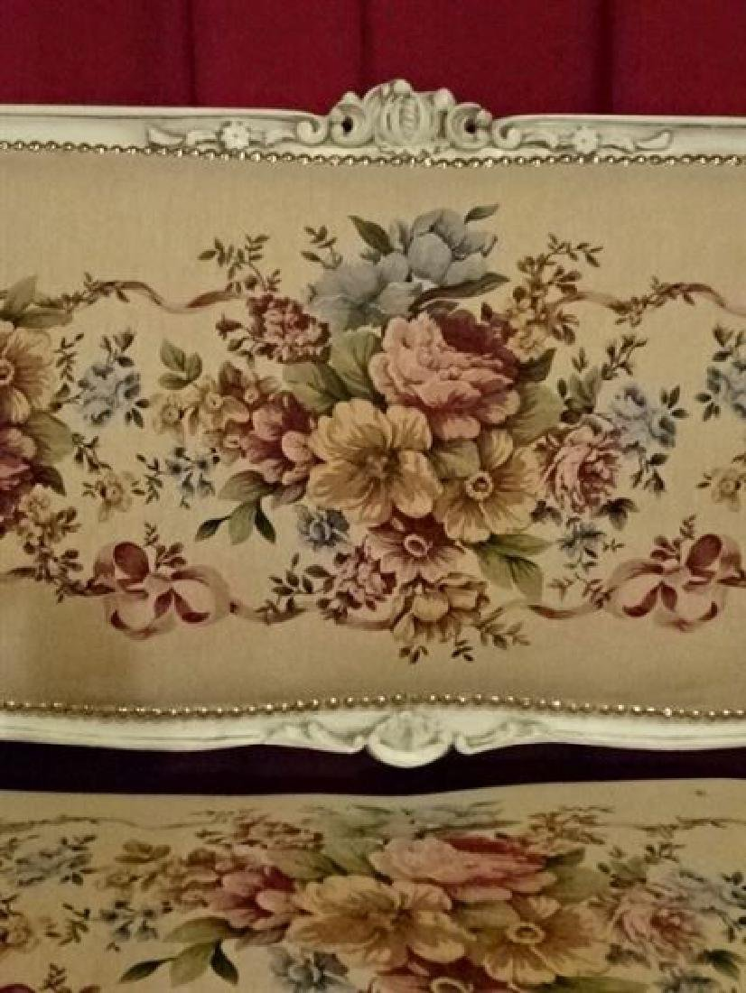 3 PC LOUIS XV STYLE PARLOR SET, SOFA AND 2 ARM CHAIRS, - 3