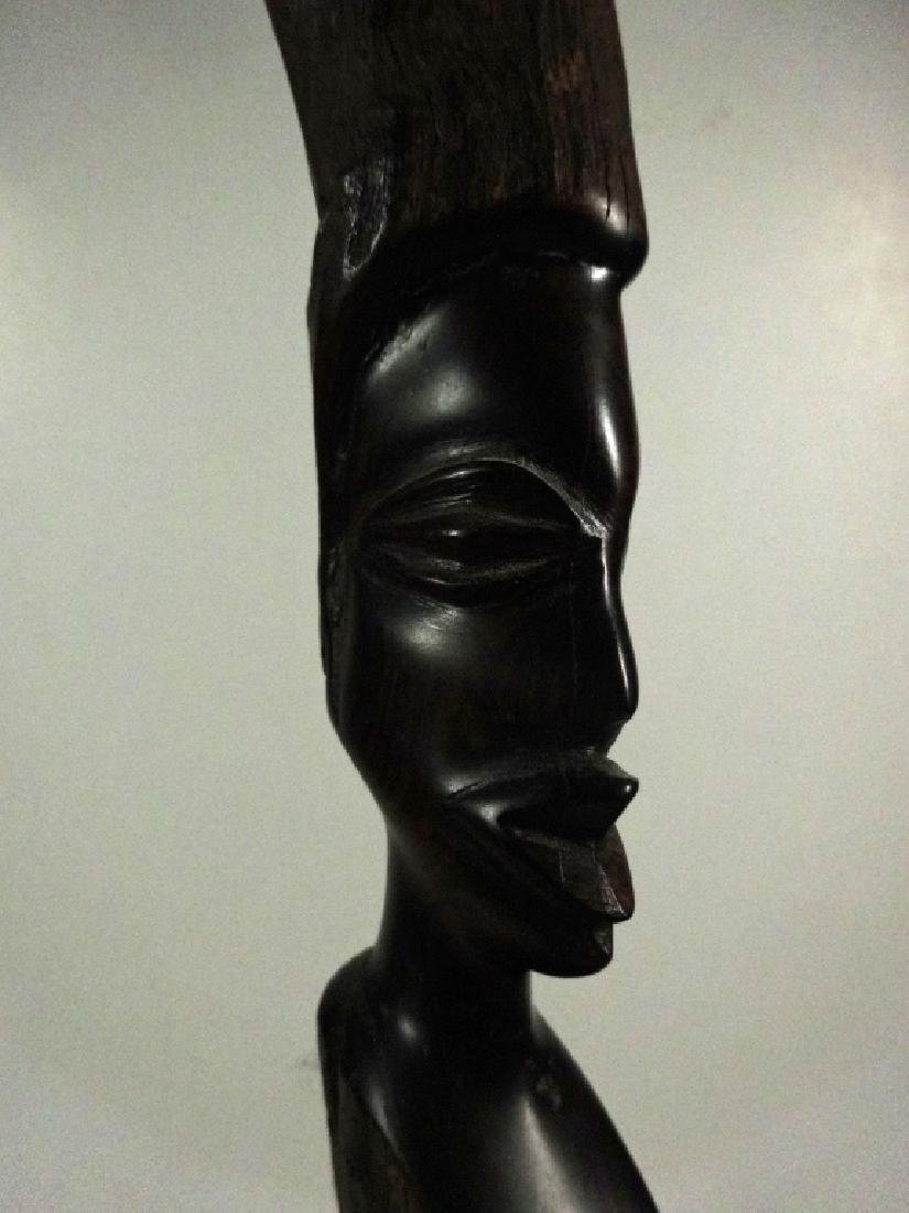 "AFRICAN CARVED WOOD SCULPTURE, APPROX 21.25""H - 2"