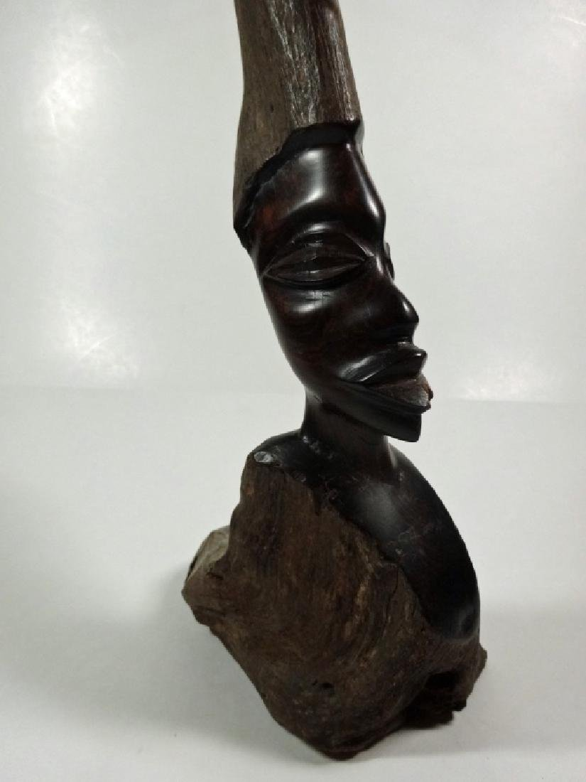 "AFRICAN CARVED WOOD SCULPTURE, APPROX 21.25""H - 3"