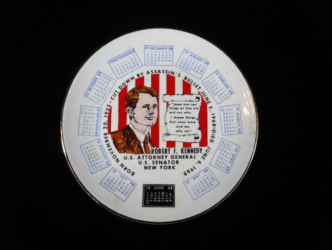 ROBERT F. KENNEDY MEMORIAL PORCELAIN PLATE BY CLARKSON