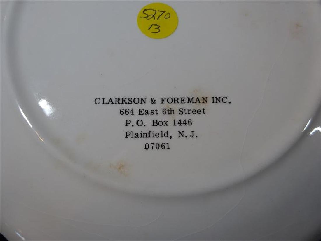 ROBERT F. KENNEDY MEMORIAL PORCELAIN PLATE BY CLARKSON - 3