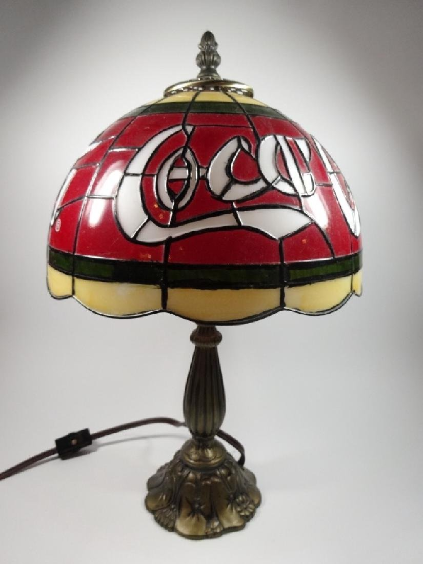 VINTAGE COCA COLA TIFFANY STYLE TABLE LAMP, PLASTIC - 2