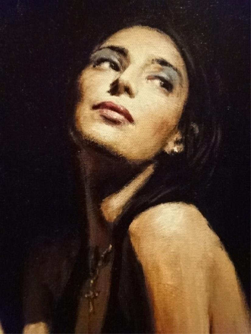 FABIAN PEREZ LIMITED EDITION GICLEE, WOMAN AT BAR, - 5