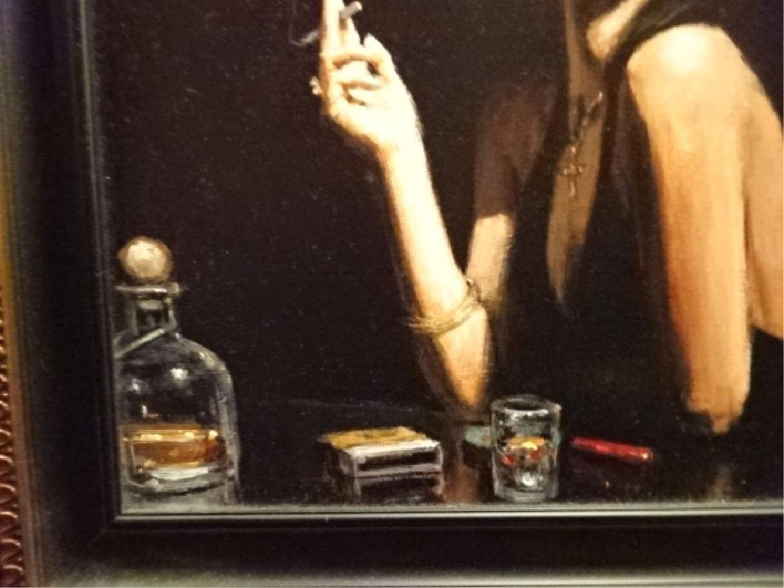 FABIAN PEREZ LIMITED EDITION GICLEE, WOMAN AT BAR, - 7