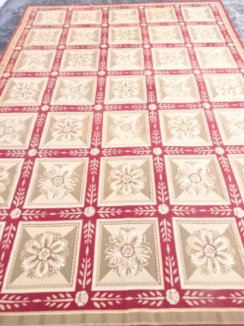 LARGE HAND KNOTTED TAPESTRY STYLE RUG, IVORY FIELD WITH