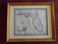 JOHNSON'S MAP OF FLORIDA CIRCA 1863 PUBLISHED BY