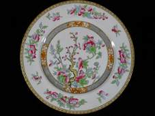 WEDGWOOD PORCELAIN PLATE INDIAN TREE PATTERN MARKED