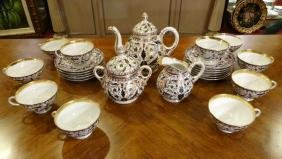 24 PC 19TH CENTURY HUNGARIAN TEA SERVICE, INCLUDES