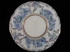 ITALIAN CAPODIMONTE PORCELAIN PLATTER BLUE AND WHITE