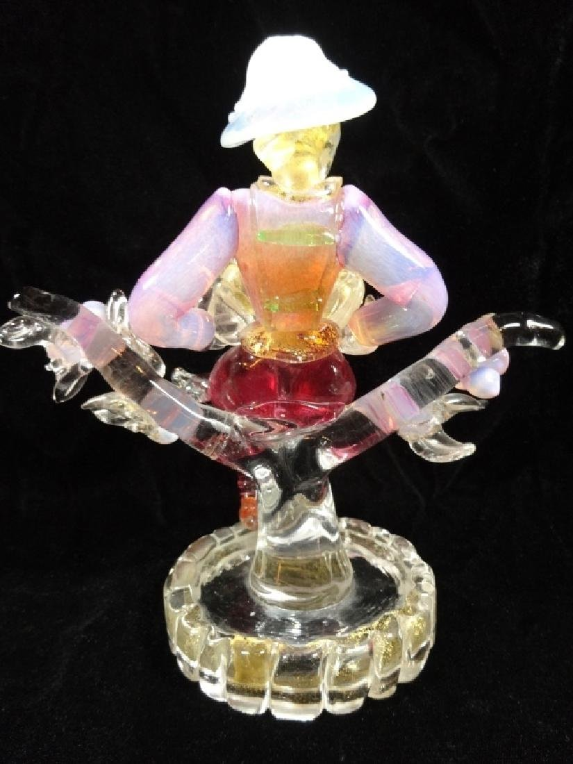 VINTAGE MURANO GLASS FIGURINE, MAN PLAYING AN ACCORDION - 6