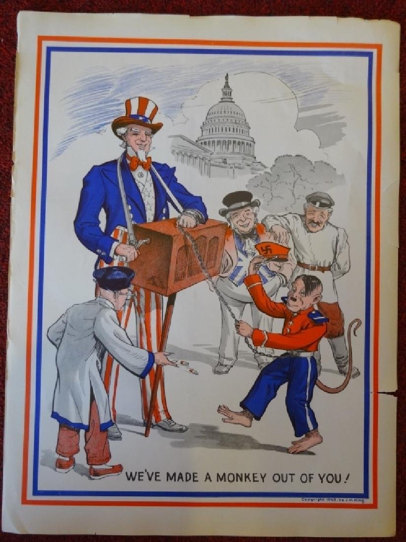 "WW II POSTER BY J.H. KING CIRCA 1943, ""WE'VE MADE A"