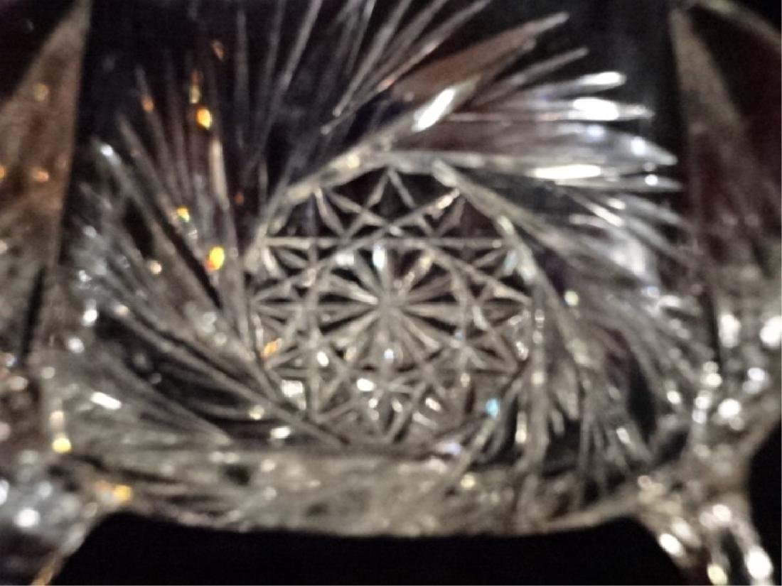VINTAGE ROUND CRYSTAL FOOTED BOWL, VERY GOOD CONDITION, - 4