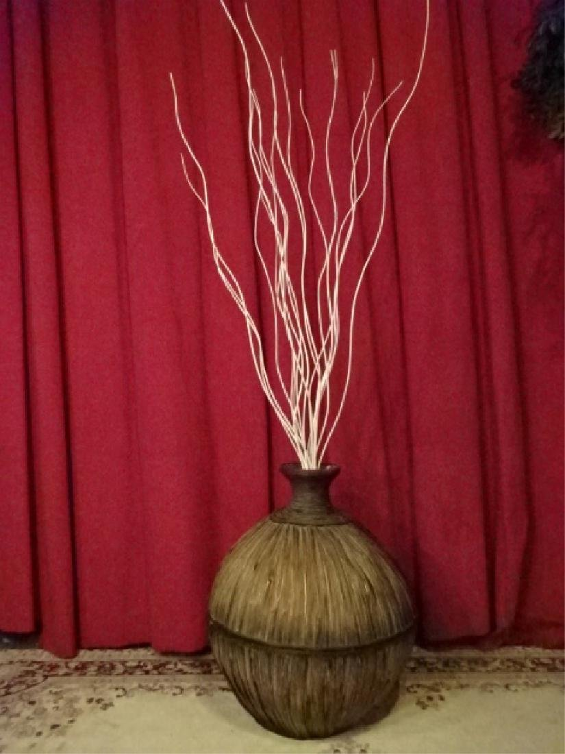 LARGE RATTAN FLOOR VASE, VERY GOOD CONDITION WITH MINOR - 2