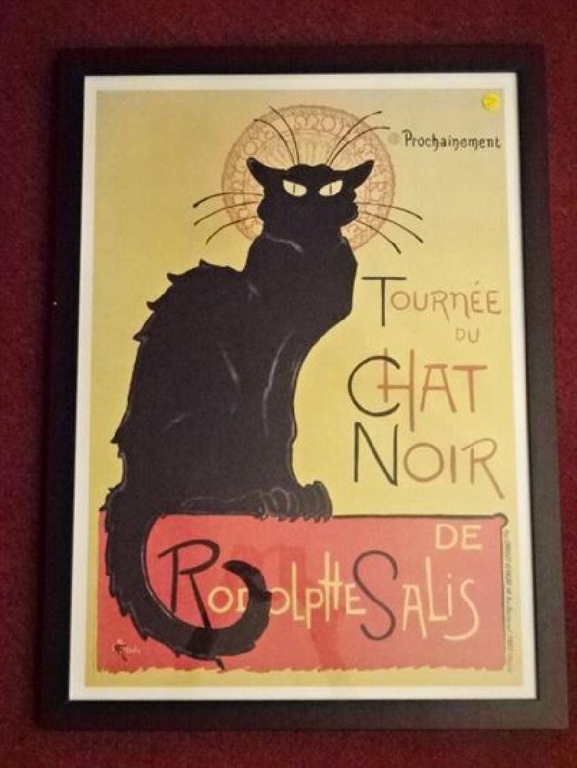 LE CHAT NOIR FRENCH ADVERTISING POSTER REPLICA, IN BACK
