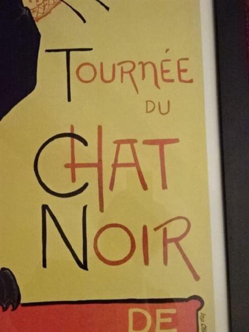 LE CHAT NOIR FRENCH ADVERTISING POSTER REPLICA, IN BACK - 3