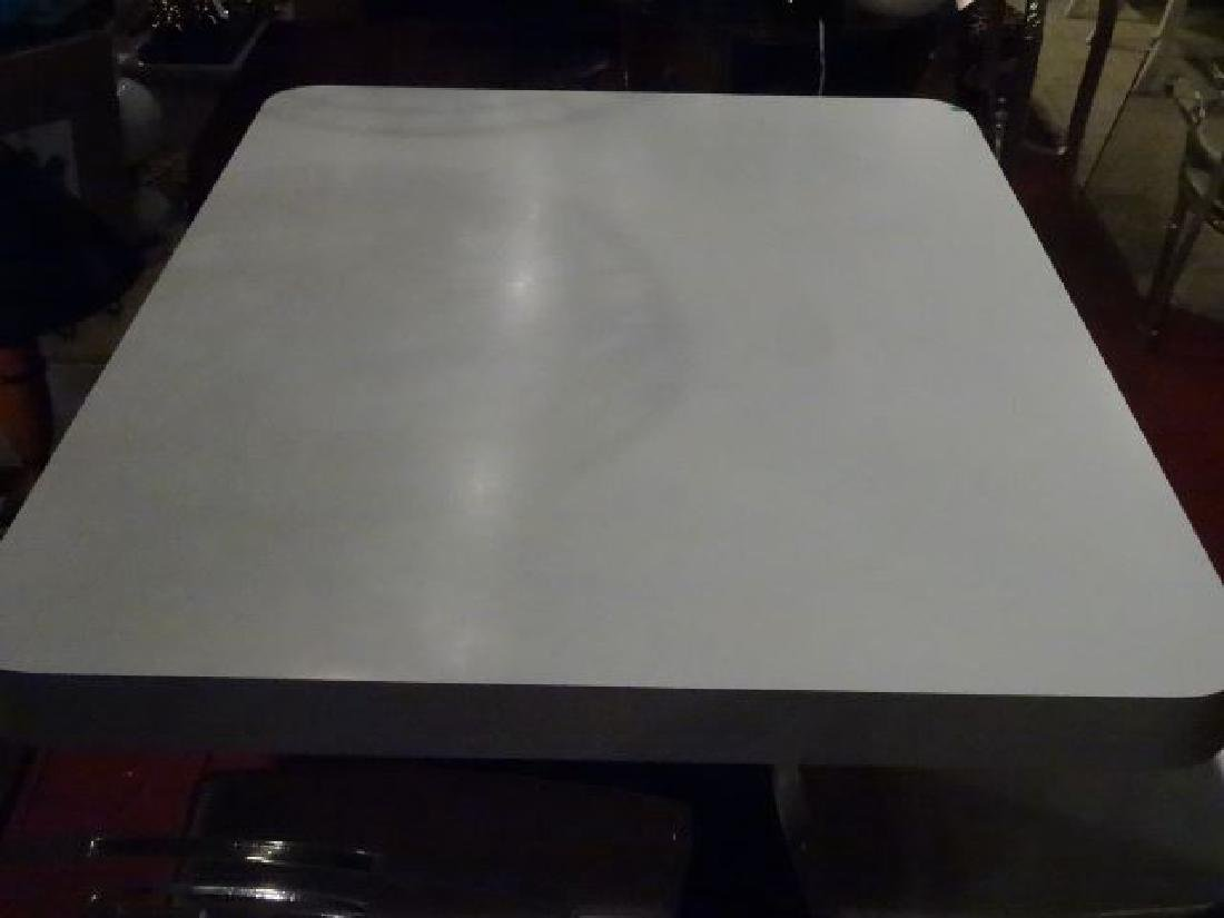MODERN DESIGN WHITE AND BLACK MICA DINING TABLE, - 6