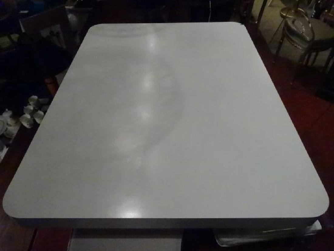 MODERN DESIGN WHITE AND BLACK MICA DINING TABLE, - 7