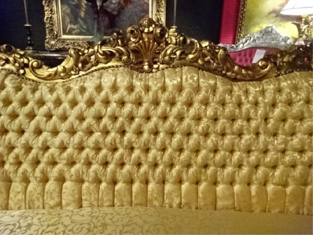 ROCOCO GOLD GILT WOOD SOFA, LOUIS XIV STYLE, GOLD - 10