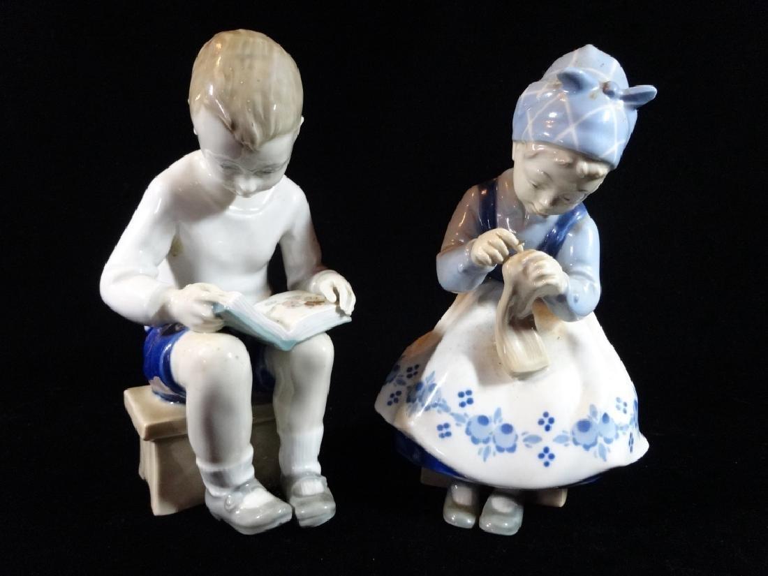 2 CARL SHEIDIG GERMAN PORCELAIN FIGURES, BOY AND GIRL,