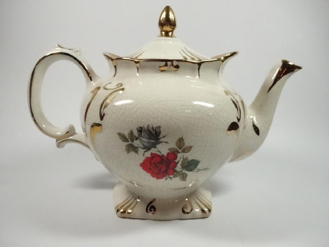 PRICE KENSINGTON PORCELAIN TEAPOT, ROSE DESIGN, - 2