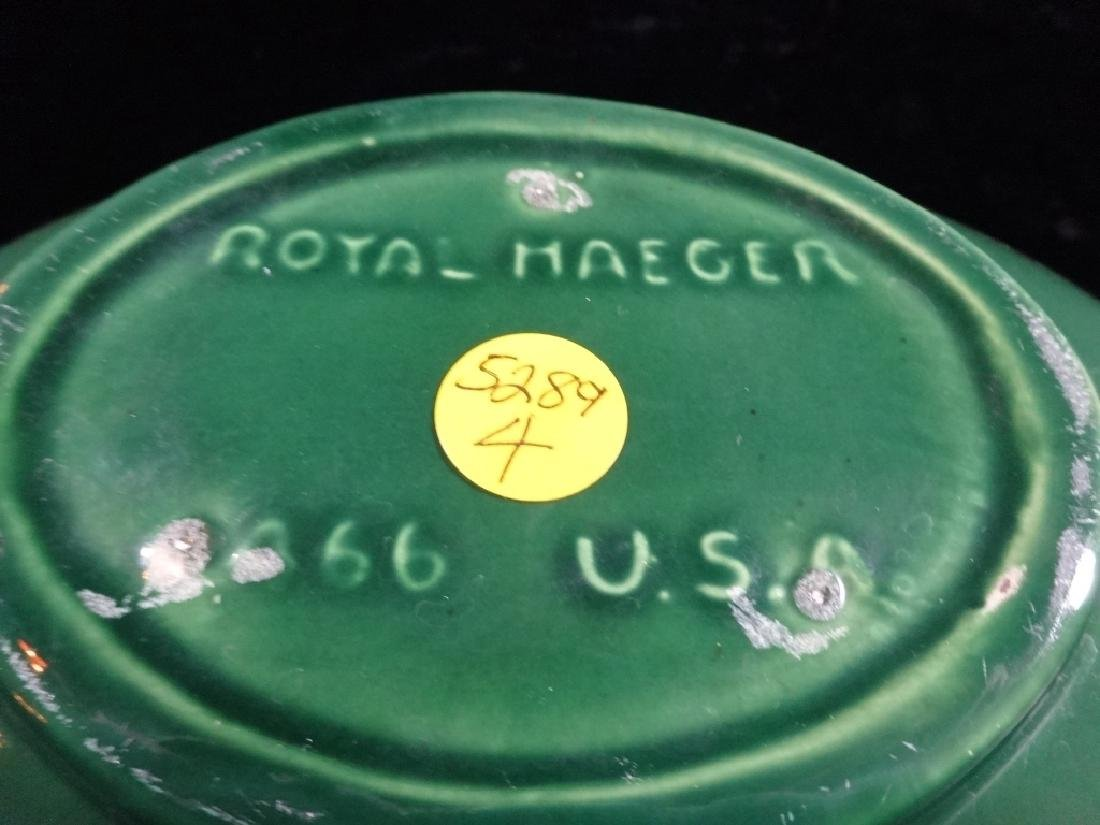 ROYAL HAEGER POTTERY BOWL, GREEN GLAZE, BY ROYAL - 3
