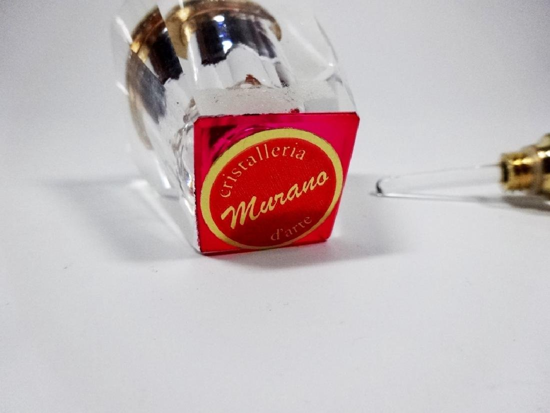MURANO STYLE ART GLASS PERFUME BOTTLE, HOT PINK & - 6