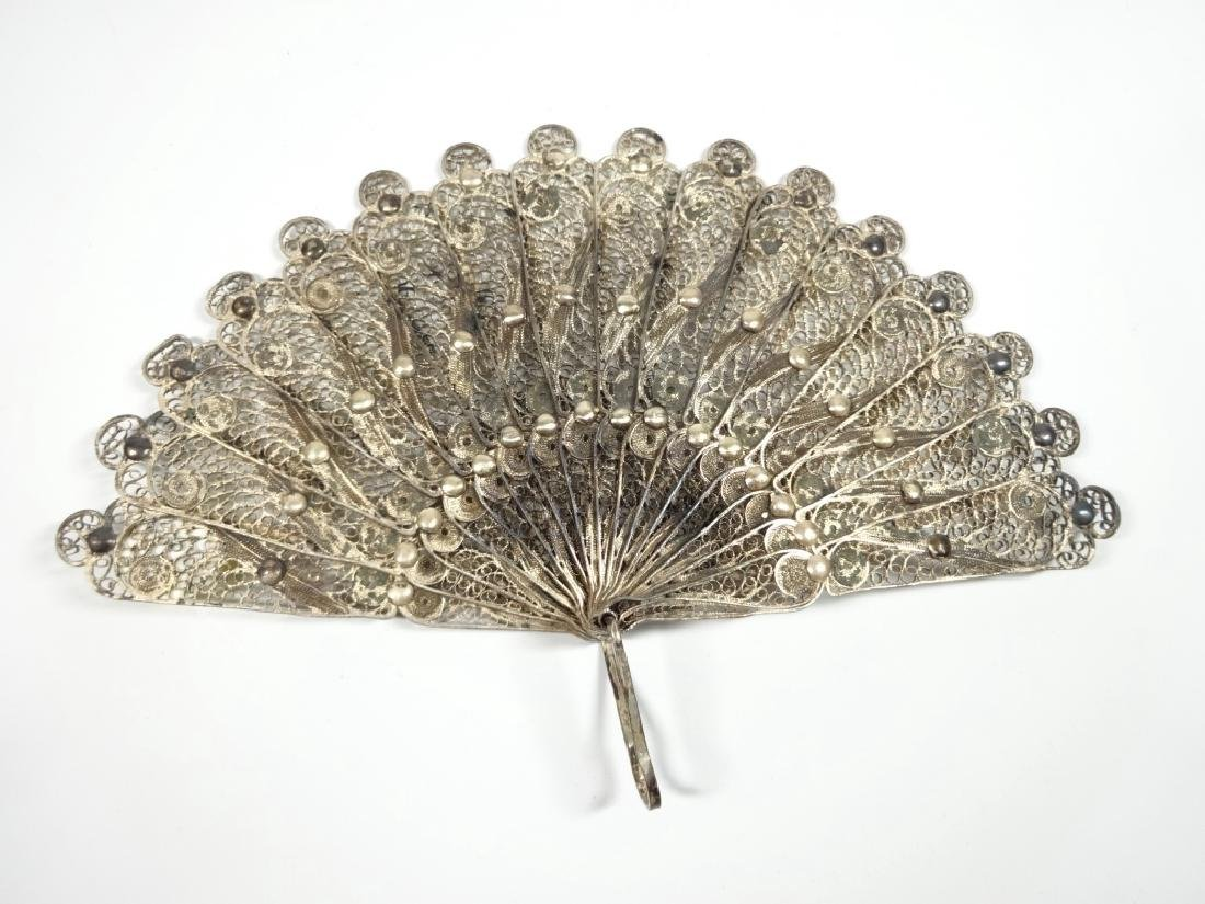 "MINIATURE METAL FAN, APPROX 7.75""W, DISPLAY STAND"