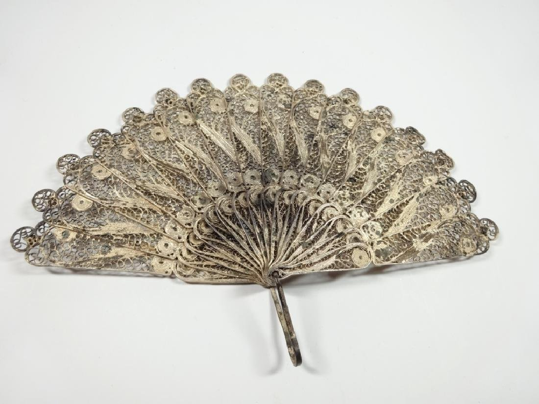 "MINIATURE METAL FAN, APPROX 7.75""W, DISPLAY STAND - 2"
