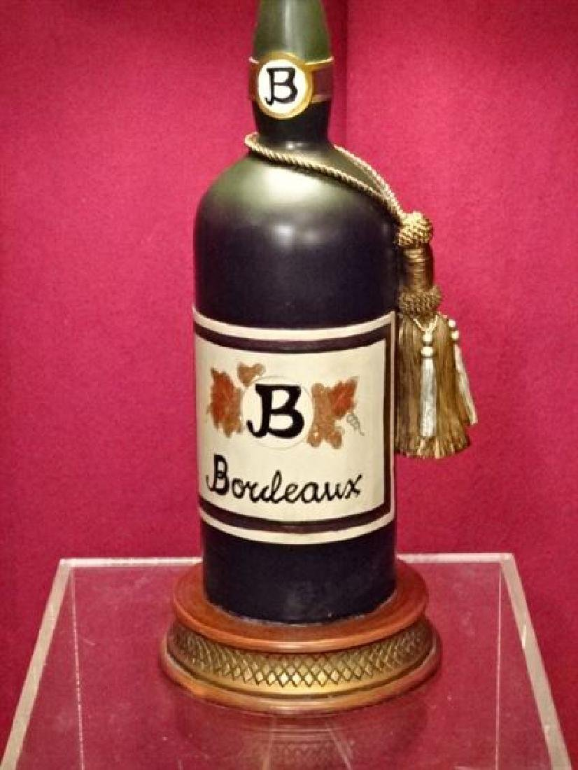 """WINE BOTTLE FORM TABLE LAMP, VERY GOOD CONDITION, 23""""H, - 2"""