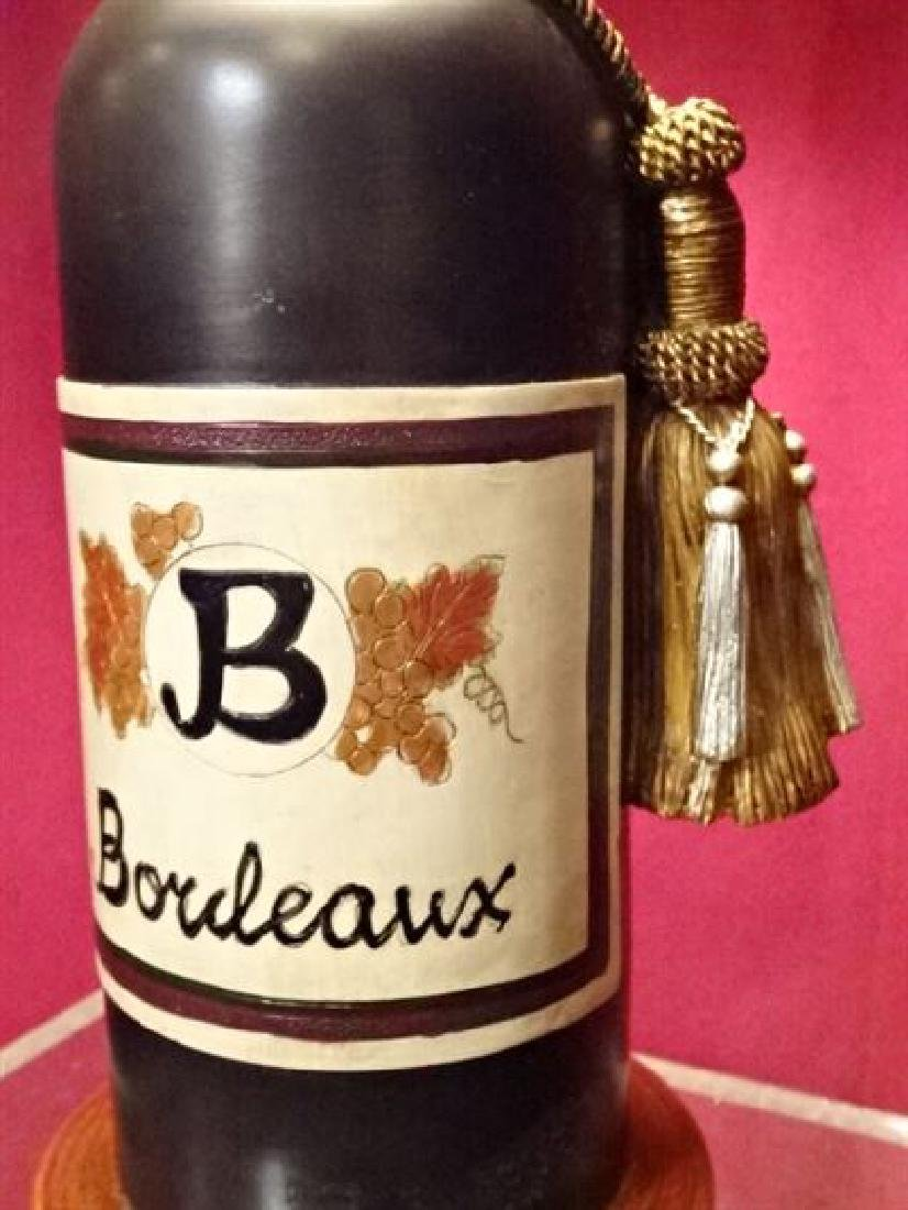 """WINE BOTTLE FORM TABLE LAMP, VERY GOOD CONDITION, 23""""H, - 4"""
