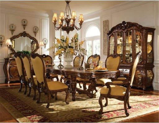 9 Pc Michael Amini Palais Royale Dining Table And 8 Mar 28
